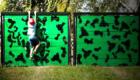 Военная стена препятствие для солдат