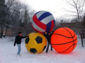 ассортимент гигантских мячей