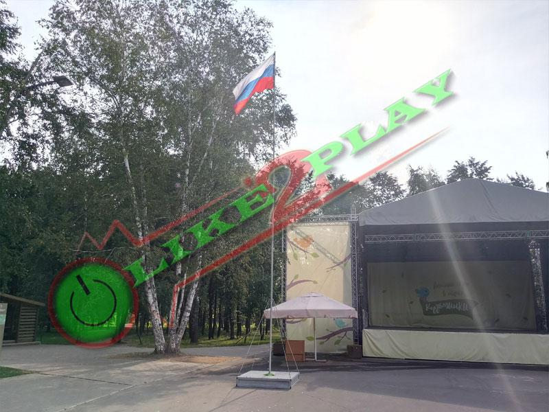 Флагшток, флаг России, Российский флаг